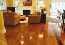 Hardwood living room floor